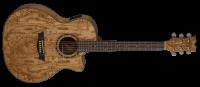 Dean Exotica Quilt Ash Acoustic / Electric Guitar - Gloss Natural (EQAGN)