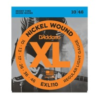 D'Addario EXL110 Nickel Wound, Tension Regular Light, 10-46 (EXL110)