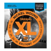 D'Addario EXL110BT Nickel Wound, Balanced Tension Regular Light, 10-46 (EXL110BT)