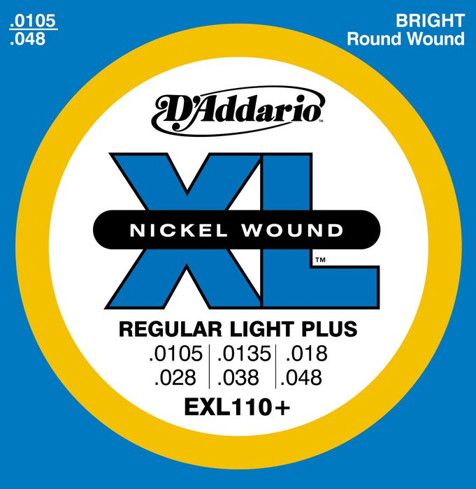 D'Addario EXL110+ XL Nickel Regular Light Plus Strings (EXL110PLUS)
