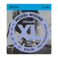 D'Addario EXL116 XL Nickel Medium Top/Heavy Bottom Strings (EXL116)
