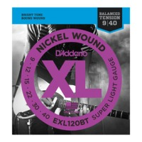 D'Addario EXL120BT Nickel Wound, Balanced Tension Super Light, 09-40 (EXL120BT)