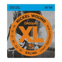 D'Addario EXL140 Nickel Wound, Light Top/Heavy Bottom, 10-52 (EXL140)