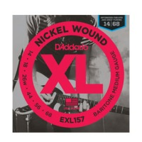 D'addario EXL157 Nickel Wound, Baritone Medium, 14-68 (EXL157)