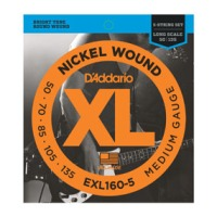 D'Addario EXL160-5 XL Long Scale 5-String Bass Set 50 - 135 (EXL1605)