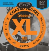 D'Addario EXP110 Coated Nickel Wound, Light, 10-46 (EXP110)