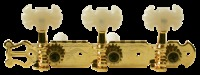 Golden Gate Classical Plank 3x3 Butterfly Guitar Tuners - Gold (F2102)