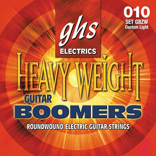 GHS Heavyweight Boomers Electric Guitar Strings Light Top (GBZW)