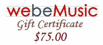 WeBeMusic.com - Music Unlimited $75.00 Gift Certificate (GIFTCERT75)