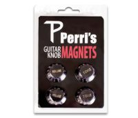 Perri's Black Guitar Knob Fridge Magnets (GNM01)