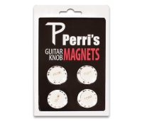 Perri's White Guitar Knob Fridge Magnets (GNM02)