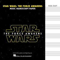 Star Wars: The Force Awakens – Manuscript Paper Wide-Staff (HL00156469)