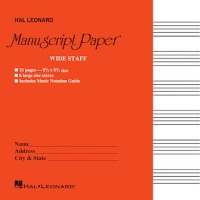 Wide Staff Manuscript Paper (Red Cover) (HL00210004)