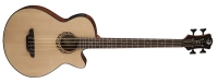 "Luna Tribal Acoustic / Electric Bass - 30"" Short Scale (LAB30TRIBAL)"