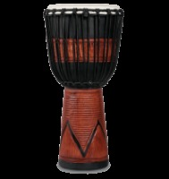 LP® World Beat Wood Art Large Djembe Black (LP713LB)