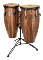 "LP® Aspire® 11"" and 12"" Conga Set with Stand - Siam Walnut (LPA647SW)"