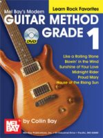 Mel Bay Modern Guitar Method Grade 1, Learn Rock Favorites (Book/DVD Set) (MB21609DP)