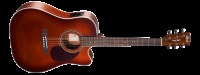 Cort MR500E Solid Spruce Acoustic Electric Guitar - Brown Gloss (MR500EBR)