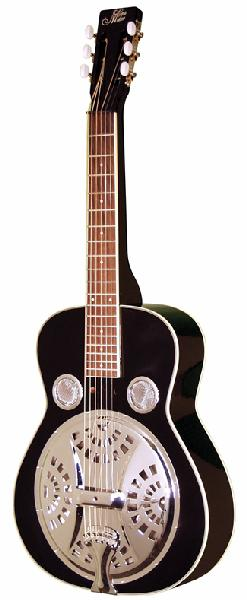 Morgan Monroe Black Voodoo Square Neck Resonator Guitar (MSQ100BK)