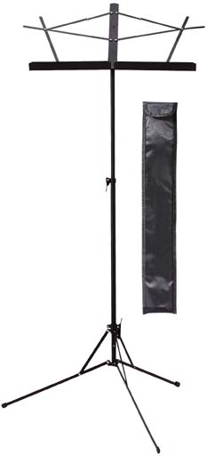 Basic Music Stand 2 Section Black with Carry Bag (MUSA2BK)