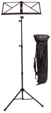 Deluxe Collapsible Music Stand with European Lyra & Carry Bag (MUSA4BK)