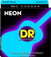 DR NBA-12 NEON Blue Acoustic Custom Lite Coated String 12-54 (NBA12)