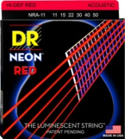 DR NRA-11 NEON Red Acoustic Custom Lite 11-50 (NRA11)