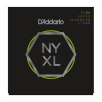 D'Addario NYXL1156 Nickel Wound, Medium Top / Extra-Heavy Bottom, 11-56 (NYXL1156)