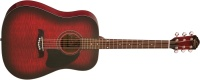 Oscar Schmidt OG2 Flame Maple Top Dreadnought Acoustic Guitar - Black Cherry Burst (OG2FBC)