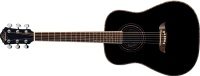 Oscar Schmidt OGHS Lefty 1/2 Size Dreadnought Guitar - Black (OGHSBLH)