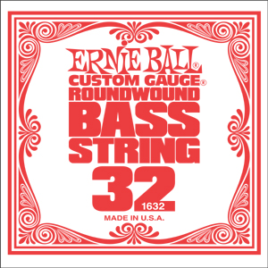 Ernie Ball Bass Nickel Wound Single String .032 (P01632)