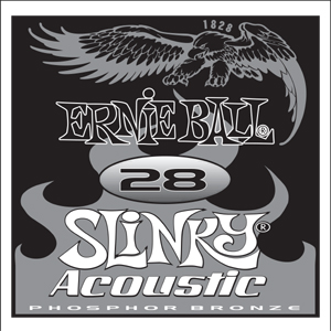 Ernie Ball Phosphor Bronze Wound Single Strings, .028 (6) (P01828)