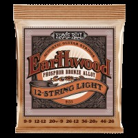 Ernie Ball Earthwood 12-String Light Phosphor Bronze Acoustic Guitar Strings (P02153)