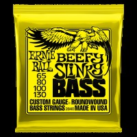 Ernie Ball Beefy Slinky Nickel Wound Electric Bass Strings - 65-130 Gauge (P02840)