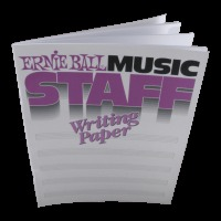 Ernie Ball Music Staff Writing Paper (P07019)