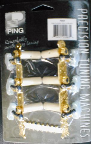 Ping Classical Gold 3 + 3 Lyre Style Machines with Black Screw (P2624)