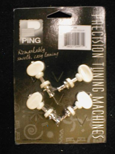 Ping Plastic Button, 2+2 Individual Regular Ukulele Machine Heads (P2698)