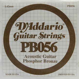 D'Addario Acoustic Phosphor Bronze Guitar Strings .054 5 Pack (PB054)