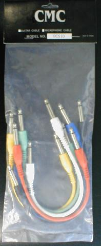 "10"" Straight End Patch Cable Rainbow 6 Pack (PCS10)"