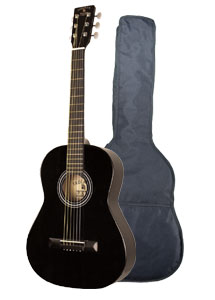"Indiana Pinto Black 36"" Guitar with Bag (PINTO)"