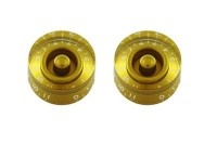 All Parts Set of 2 Speed Knob Set 0-11 Gold (PK0132032)