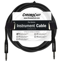 "ChromaCast Pro Series Instrument Cable 10', Black, 1/4"" Straight to 1/4"" Straight Ends (PSCBLSS10BLK)"