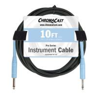 ChromaCast Pro Series 10-Feet Instrument Cable - Daphne Blue (PSCBLSS10DBL)