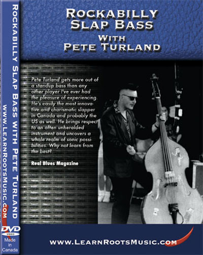 Rockabilly Slap Bass with Pete Turland  DVD (PTDVD01)