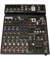 Peavey PV 10 AT 7 Channel Mixer with Antares® Auto-Tune® Pitch Correction (PV10AT)
