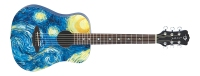 Luna Safari Starry Night Travel Guitar w/Gigbag (SAFSTR)