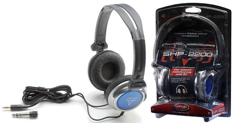 Stagg Compact Folding Studio & DJ Stereo Headphones (SHP2200)