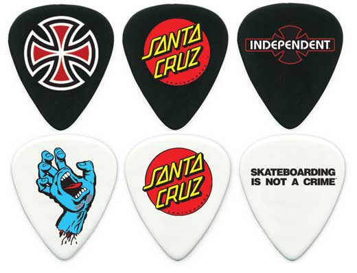 Dunlop SK8 Celluloid Guitar Picks 6 Pack – Medium (SK8PM)