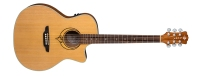 Luna Heartsong Grand Concert Cutaway Acoustic / Electric Guitar - Satin Natural (SONGGC)
