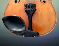 GelRest Strad Style 4/4 Violin Chinrest Cup Pad - Ebony (ST44E)